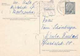 Deutsche Bundespost 1959 - 8 Pfg Ganzsache Auf Pk Gel.v.Karlsruhe Nach Karlsruhe-Dürlach - [7] Federal Republic