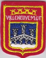 Ecusson Tissu - Villeneuve-sur-Lot (47) - Blason - Armoiries - Héraldique - Blazoenen (textiel)