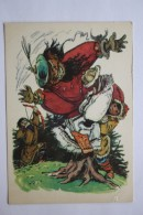"OLD USSR  PC -  ""BOROLDOI MERGEN "" Altai Fairy Tale - 1958  - Hunter - Arch - Archer - Tir à L'Arc"