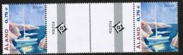 2004 Aland Islands Europa Cept Gutter Pair W. Emblem Mnh - Aland