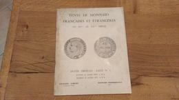 60: Vente De Monnaies Francaises Et Etrangeres Du Xv Au Xx Siecle Hotel Drouot - Französisch