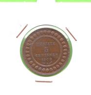 TUNISIE / CINQ CENTIMES 1908 / 1326 AH - Túnez