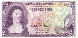 COLOMBIA 2 PESOS 1973 P-413a UNC [CO413a] - Colombie
