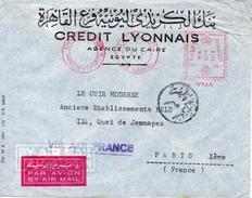 Egypte Lettre EMA Le Caire Pour La France 1951 - Covers & Documents