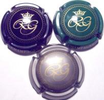 Gerbaux R. Lot De 3 Capsules, Noir, Vert & Argent - Champagne