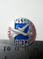 Airplane Antonov An-32 Soviet Union Metal Badge Pin USSR Aviation Avia Paris 1977 Air Show Le Bourget Aluminium - Airplanes