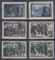 1942 - Héros Soviétiques - Yv. 853/9 - *** Mnh (- Yvert Nº855)
