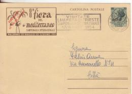 35-Trieste A-AMGFTT-Occupazione Anglo Americana-allied Occupation-L.20 C.P.-8^Fiera Mediterraneo - Storia Postale