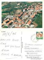 Aerial View, Flumeri, AV Avellino, Italy Postcard Posted 1996 Stamp - Avellino