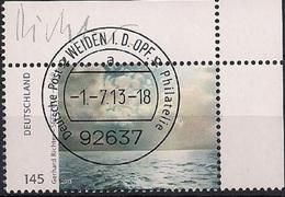 2013 Germany Allem.Fed. Mi. 3020 FD-used Weiden EOR   Seestück; Gemälde Von Gerhard Richter - Oblitérés