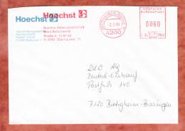 Brief, Hasler C34-3015, Hoechst Werk Ruhrchemie, 80 Pfg, Oberhausen 1989 (32921) - [7] Federal Republic