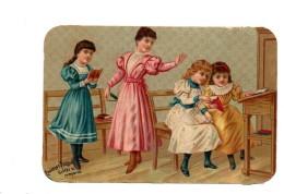 Chocolat Poulain.Chromo. A L'Ecole. Maitresse. - Poulain