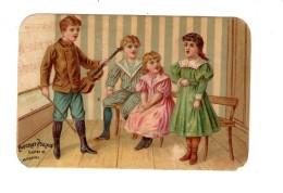Chocolat Poulain.Chromo. A L'Ecole. Violon.chant. - Poulain