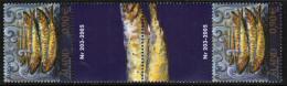 2005 Aland Islands Europa Cept Gutter Pair Number Mnh - Aland