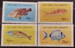 Turkish Cyprus, 1996, Mi: 420/23 (MNH) - Peces