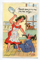 """CPA   Illustrateur  :  Jean De PREISSAC    """" Pas Ton Ange  """"    A  VOIR  !!!!!!! - Preissac"""