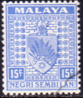 MALAYA NEGRI SEMBILAN 1941 SG #32 15c Used CV £60 - Negri Sembilan
