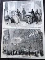 ANCIEN DOCUMENT 1860 THEATRE DU GYMNASE PERE PRODIGUE EXPOSITION SOCIETE PHILOMATHIQUE DE BORDEAUX - Collezioni