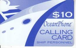 PUERTO RICO - Oceanphone By MTN Satelite Prepaid Card $10, Exp.date 31/12/05, Used