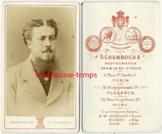 CDV Homme à Identifier-port Aristocratique-photo Schemboche De S. M Le Roi D´Italie-correspondant De Nadar-Florence - Old (before 1900)