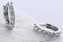 Orecchini A Boccole Con Cristalli Laminati In Argento 925 - Orecchini