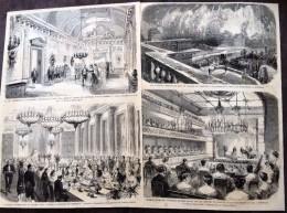 ANCIEN DOCUMENT 1860 CHATEAU DE COMPIEGNE FETE DE L IMPERATRICE THEATRE DE LA COUR - Collections