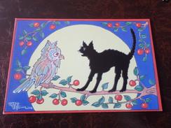 Carte Postale Illustrateur Patrick Hamm Amour Félin Felix Tueur De Mouches N°18 - Hamm