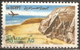 Égypte - 1972 - Temple D'Abou Simbel - YT Poste Aérienne 133 Oblitéré - Poste Aérienne