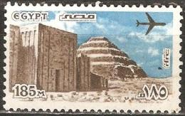 Égypte - 1982 - Pyramide De Saqqarah Et Entrée Du Sanctuaire - YT Poste Aérienne 167 Oblitéré - Poste Aérienne