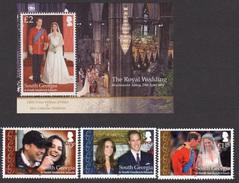 2011 - GEORGIA DEL SUD / SOUTH GEORGIA - NOZZE REALI / ROYAL WEDDING. MNH - Georgia Del Sud