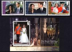 2011 - ASCENSION - NOZZE REALI / ROYAL WEDDING. MNH - Ascensione