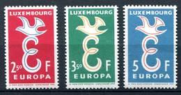 Luxemburg 1958 Michel Nr. 590#592 Postfris
