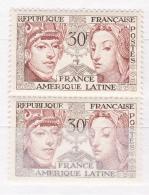 N° 1060 Amitié Franco-Amérique Latine: Sculpture Péruvienne: Une Paire 2 Timbres Neuf Impéccable Sans Charnière - Unused Stamps