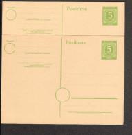 Alli.Bes. 5 Pfg.Ganzsache P 950  2 Stück Ungebraucht - Zona AAS