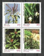 INDIA, 1997, Indian Medicinal Plants, Setenant Block Of 4,  MNH, (**) - Inde