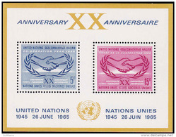 United Nations (New York) Scott #145, Sheet Of 2 (1965) ICY Emblems, Mint Never Hinged