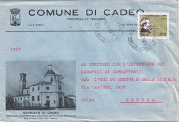 "Busta Illustrata ""Roveleto Di Cadeo"" - Piacenza"