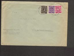 Alli.Bes Fernbrief über 20 Gramm Aus Würzburg 5 V.1946 Mit 2, 6 Und 40 Pfg.Ziffer - Gemeinschaftsausgaben