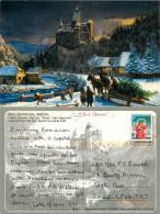 Dracula's Castle, Bran, Romania Postcard Posted 2010 Stamp - Romania