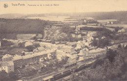 Trois-Ponts - Panorama Vu De La Route De Wanne (gare ?, Train) - Trois-Ponts