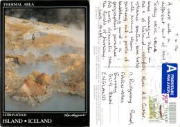 Thermal Area, Leirhnjukur, Iceland Postcard Posted 2006 Stamp - IJsland