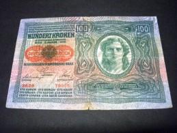 AUTRICHE 100 Kronen 02/01/1912,(1919), Pick 56, Recto/verso Similar ,AUSTRIA - Oesterreich