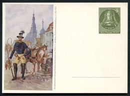 BERLIN PP12 D2/001 Privat-Postkarte Postillion Pferd ** 1953  NGK 40,00 € - Private Postcards - Mint