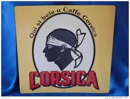 """Plaque Métal """"CAFE CORSICA"""". Corse. - Advertising (Porcelain) Signs"""