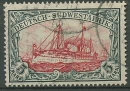 Deutsch-Südwestafrika 1906 Kaiseryacht Hohenzollern 32 A B Gestempelt - Kolonie: Deutsch-Südwestafrika