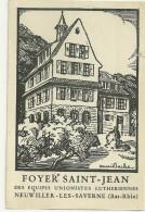 67 CPA Foyer Saint Jean Neuviller Les Savernes  Gravure Henri Bacher Illustrateur - France