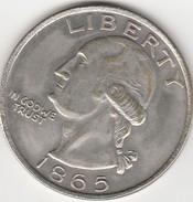 MONETA - ONE DOLLAR - UNITED STATES OF AMERICA - 1865 - LEGGI - America Centrale
