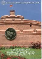 Lote PM2012-2, Peru, 2012, Moneda, Coin, Folder, 1 N Sol, Fortaleza Del Real Felipe, Architecture - Perú