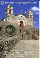 Lote PM2012-3, Peru, 2012, Moneda, Coin, Folder, 1 N Sol, Templo Del Sol, Vilcashuamán, Indigenous Theme - Perú