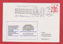 Allemagne --  Carte Schleswig - Holstein Musik Festival 1992 - [7] Repubblica Federale